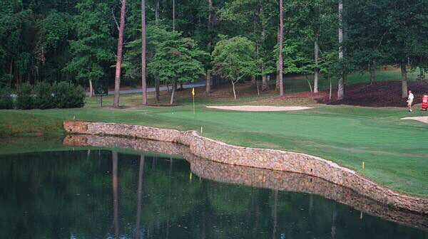 Length is not what makes the downhill 170 yard 2nd tricky. Robert Trent Jones Sr. appreciated the design virtues of the 12th at Augusta National early in his career and often created such angled, narrow greens.
