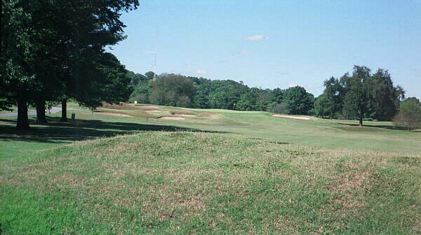 These unique cross mounds stretch across the entire 15th fairway at Holston Hills.