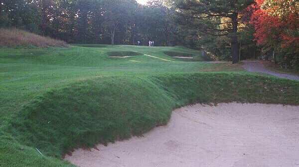 The 13th at Salem is capped off by what some consider to be Rosss single finest green.