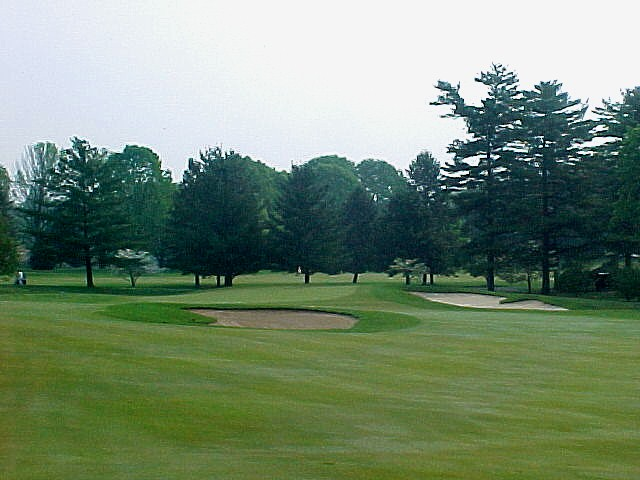 Approach from the fairway to the par four 10th