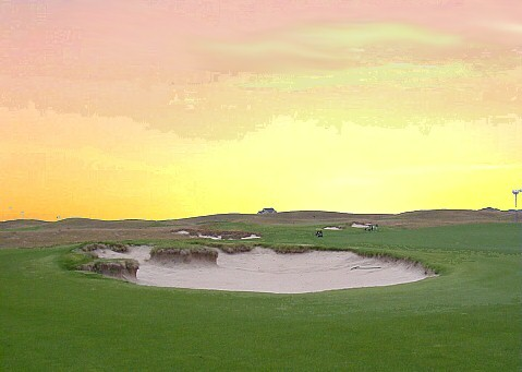 The inspiring 16th hole at Wild Horse