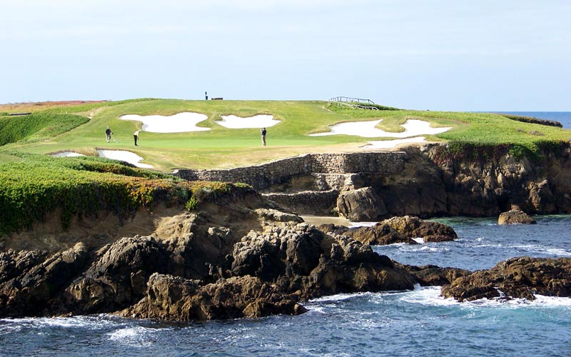 One of the worlds great half par holes - the sixteenth at Cypress Point Club.