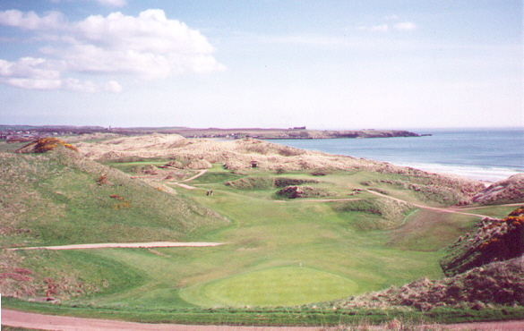 Surrounded by dunes: The clever 8th at Cruden Bay.