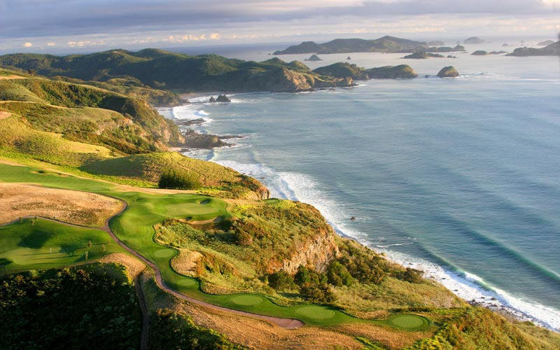 The 7th at Kauri Cliffs on the North Island of New Zealand