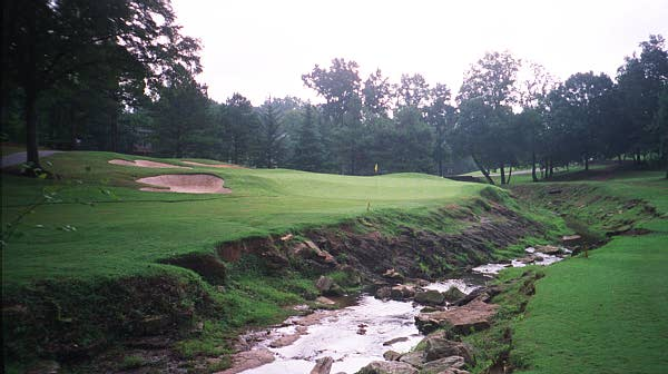 The first rate 8th green complex