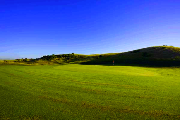 The fifteenth - an example of the slightly different terrain on this part of the course.