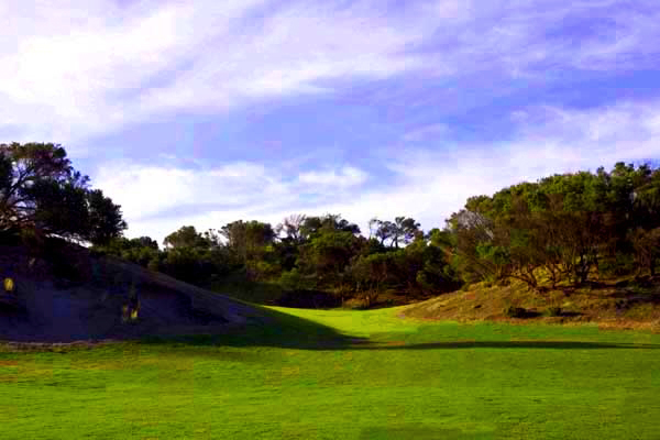 The incredible and unique third hole.