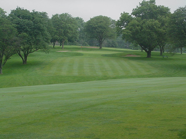 While the second to #10 is only a short iron, it is complicated by the stance and the small green.