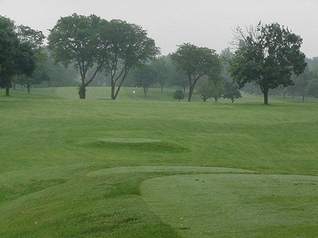 The tee shot at eleven doesn't give many hints to the shot required.