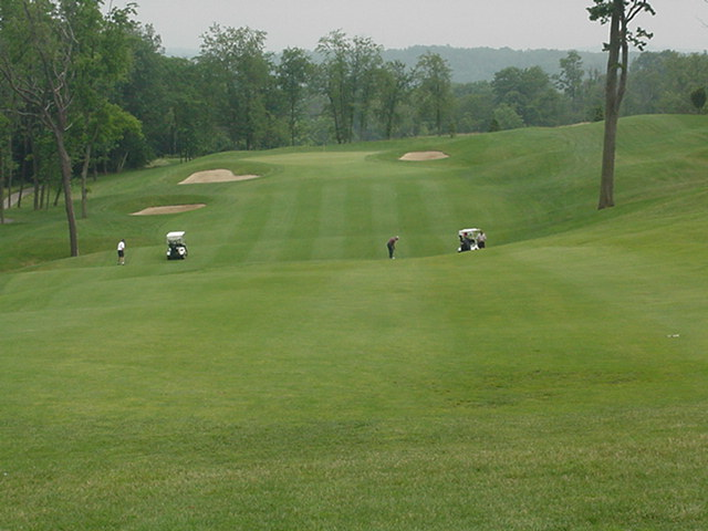 Fourteen as seen from the end of the first fairway.