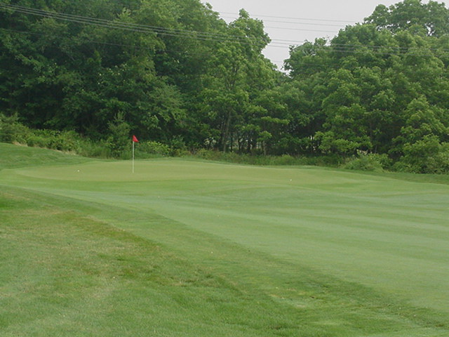 The fifth green, the little knob front/center can have a big effect.