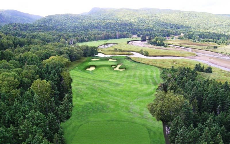 Look at the view opened up down the right of the fifth at Highlands Links if the trees could be removed! In addition, the wind would play a bigger role in how this par three plays, always a good thing.