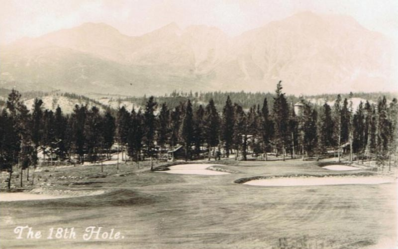 The all-world finishing hole at Jasper Park has always enjoyed many admirers, including Alister MacKenzie.