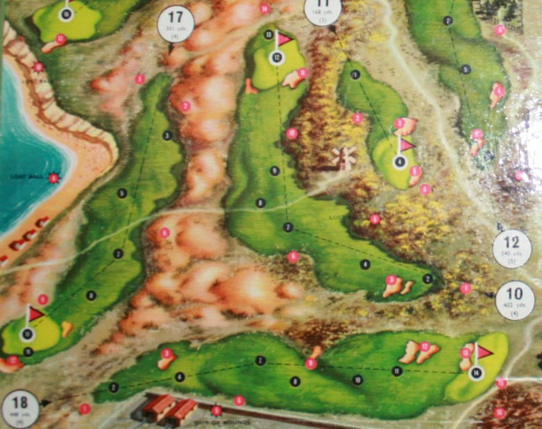 A photograph of the Par Golf board game; note how a version of the Road Hole is its eighteenth.