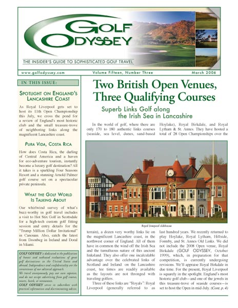 The March 2006 cover of Golf Odyssey.