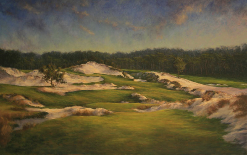 A work in progress - recent work of a near completed ninth at Cypress Point.