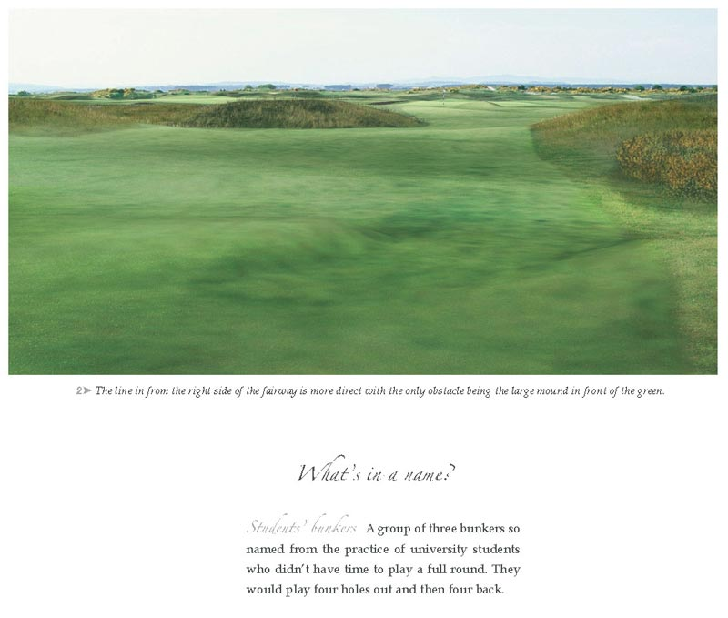 The imagery found in Experience The Old Course is unique.