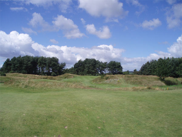 Approach shot from the end of the fairway on the par four twelfth.