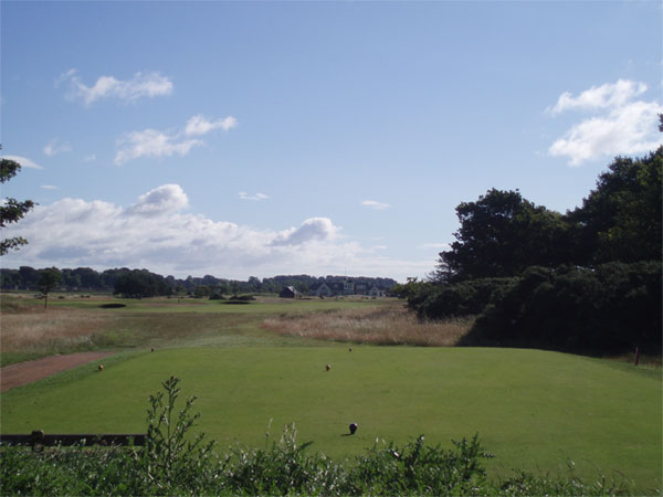 Tee shot on the par four seventeenth, where Ben Hogan practiced prior to the 1953 Open.