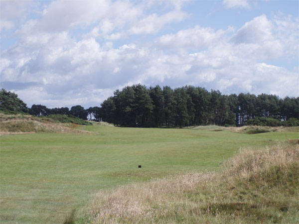 View from the start of the fairway on the par four seventh.