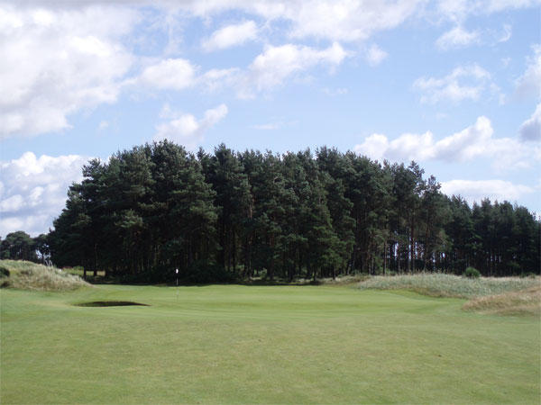 The green at the par four seventh.