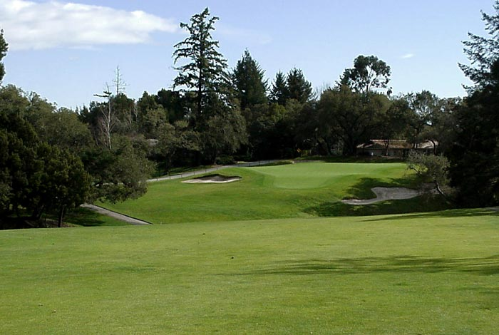 The mammoth, and highly original, 16th green.