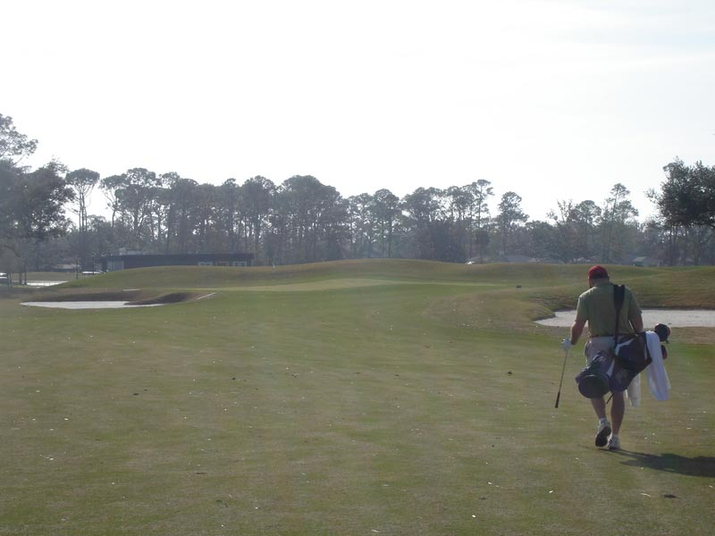 The ridge through the ninth green