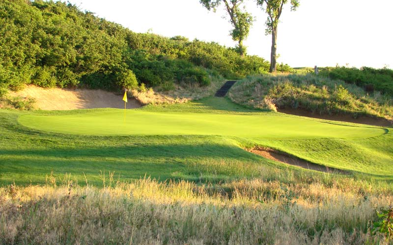 The tiny sloped greens combined with Maxwells interior rolls have flummoxed golfers for decades at Prairie Dunes.