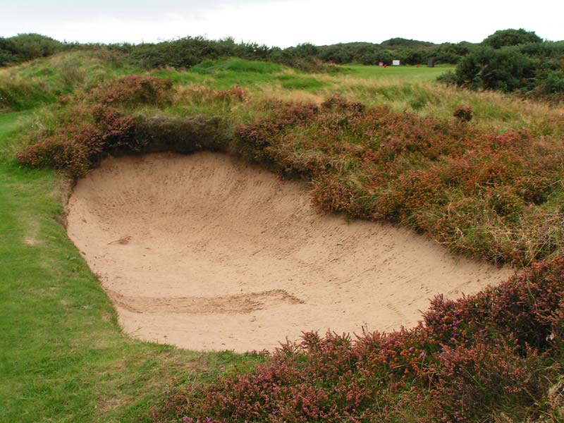 This back bunker is one of three bunkers that rings the gathering 17th green.