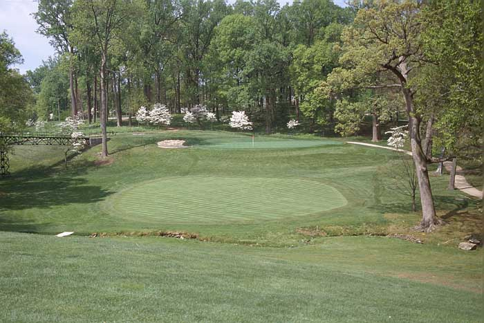 You must not leave yourself above the hole. Missing the green usually costs a one-stroke penalty.