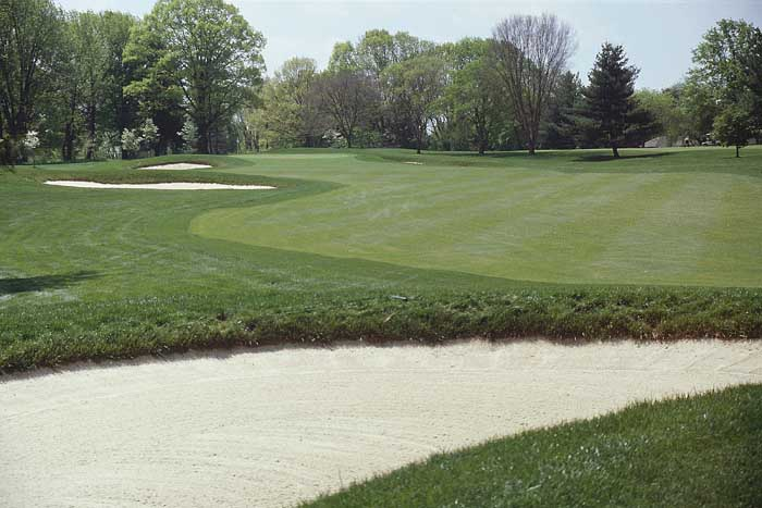 A difficult green that slopes back to front awaits.