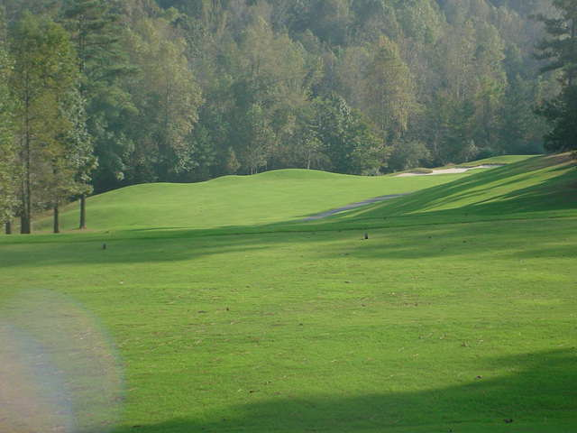 The inviting tee shot at the fifth.