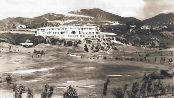 Looking back down the 10th hole to Rivieras famous clubhouse.