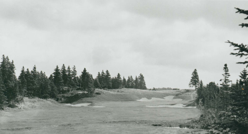 The original bunkering as seen here on the one shot 17th hole.