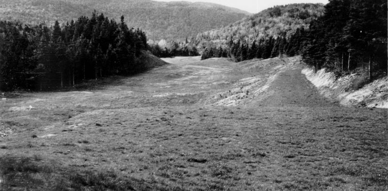 The visual intimidation from the tee of the 7th hole, Killiecrankie, shows the terrain upon which the course was routed.