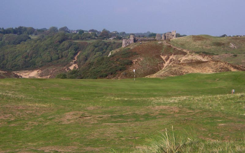 A view of the castle from behind the 13th green.
