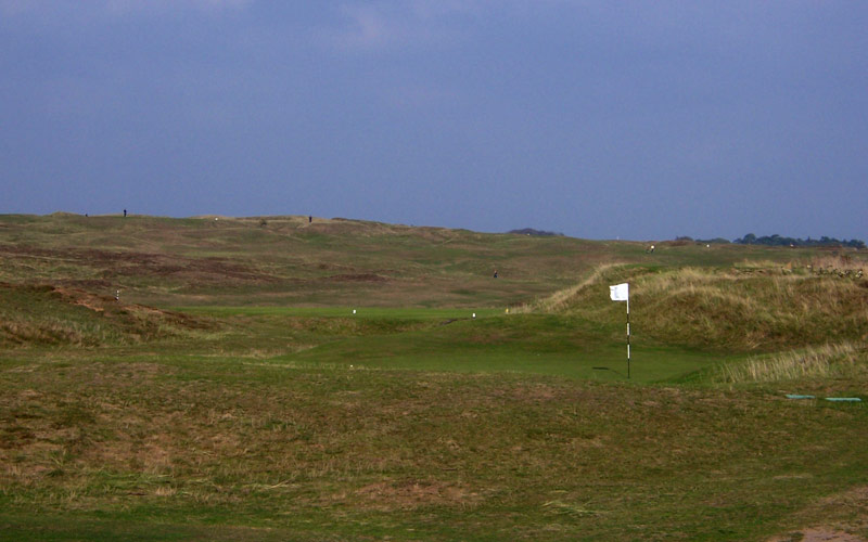 The 15th green viewed near the 16th tee.