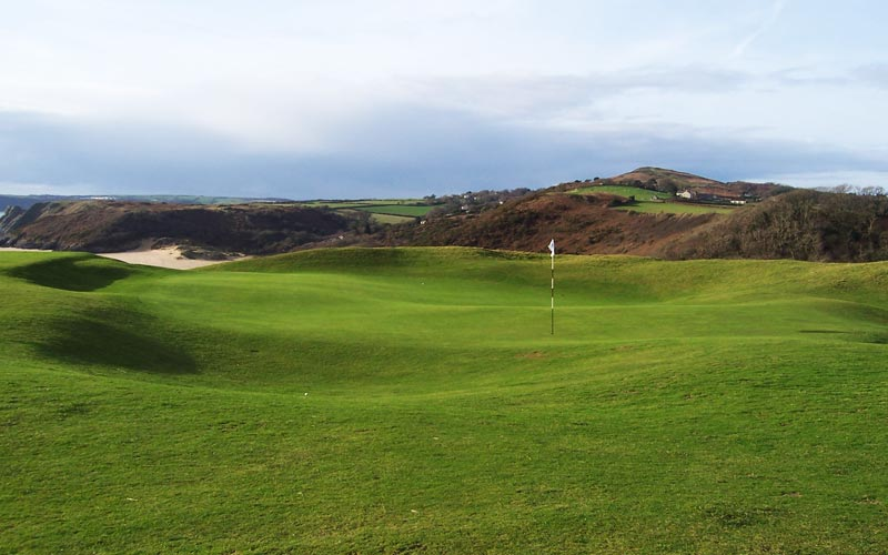 The seventh green was probably Braid's last contribution to Pennard.