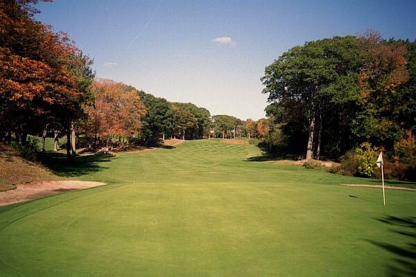 The view from behind the 14th green highlights the beautiful New England setting that Tedesco Country Club enjoys.