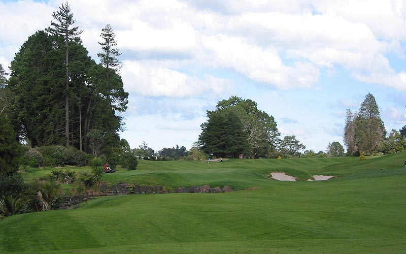 View of the approach to the eighth green.