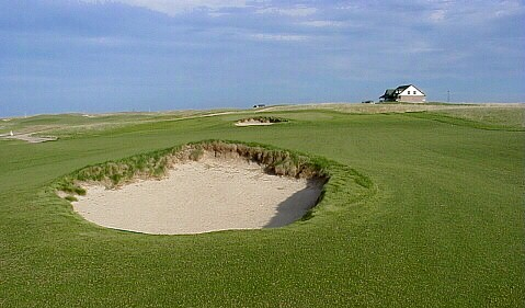 Another bunker surrounded by fairway, this one at the 3rd.