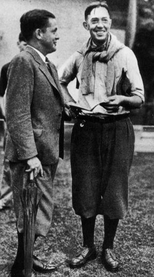 Two of the greatest men the game will ever know, Bob Jones and Francis Ouimet.