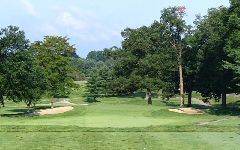 The eighth hole before the renovation