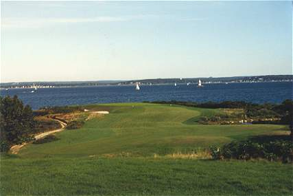 The juxtaposition of art against nature - the 7th at Fishers Island