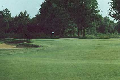 The first hole at Golf du Medoc.