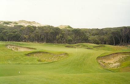The punchbowl 11th at The Moonah course.