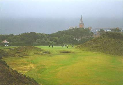 From the crest of the hill at County Down.