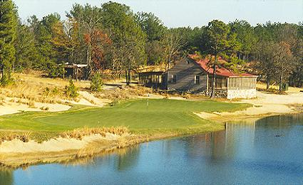 Strantz builds courses that attract attention. Pictured here is the fourteenth at Tobacco Road in North Carolina.