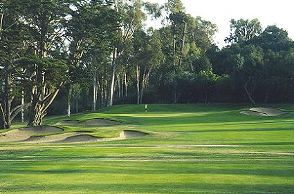 The right to left sloping 16th green is beautifully integrated into its surrounds.