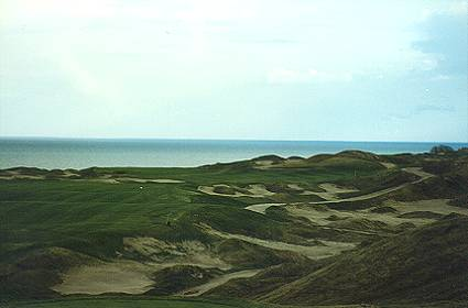 The 15th at Whistling Straits offers interesting playing angles.
